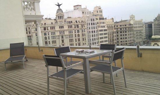 Hotel Zenit Valencia : Terraza suite