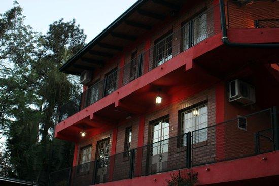 Puerto Canoas: Vista de las habitaciones superiores