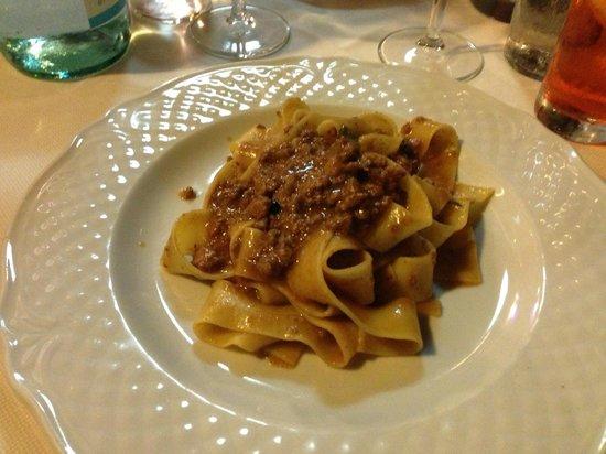 Restaurant La Stella: Papardelle  al cinghiale