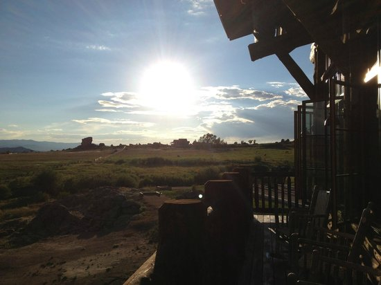 The Lodge and Spa at Brush Creek Ranch: view from lodge