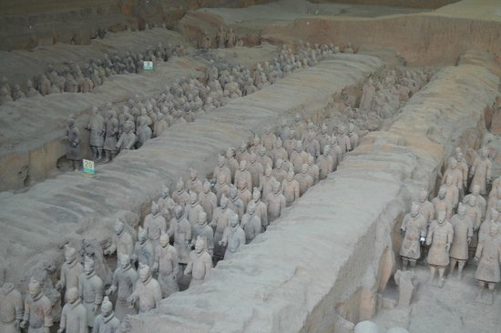 The Museum of Qin Terra-cotta Warriors and Horses: Terracotta warriors in Xi'an