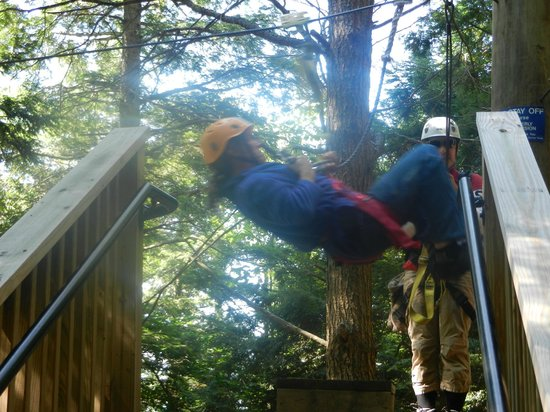 Berkshire East Canopy Tours: Yep, that's me. Words just can't describe how fun it was!