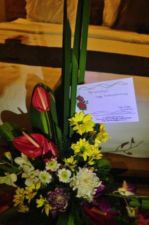 Villa Bintang Baru: Anniversary flowers