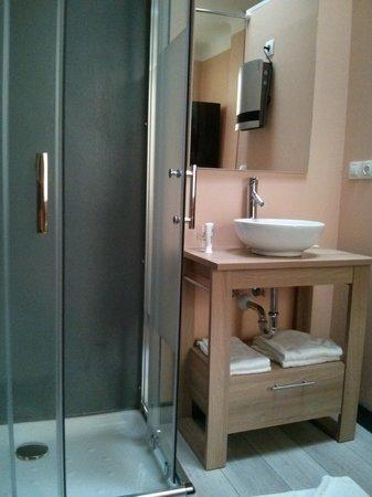 Hotel Parc Mazon : Douche + lavabo