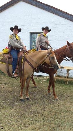 Fort Bridger State Historic Site: the sheriff & deputy
