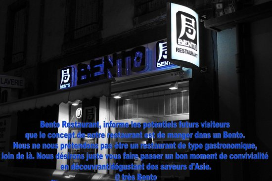 Bento Restaurant : Information