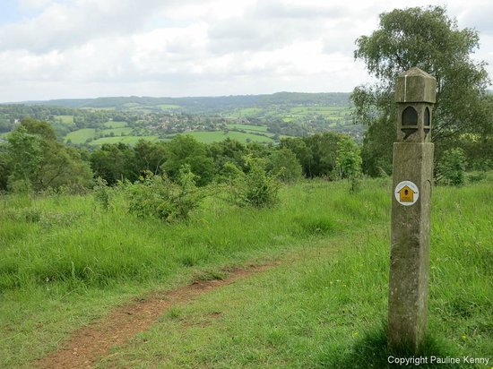 Cotswold Way: Looking back to Painswick.
