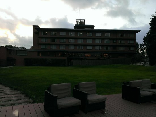 Toba Kokusai Hotel Annex, Shiojitei: テラスからの外観