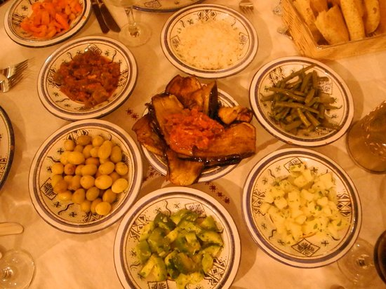 Riad Dar Tafilalet : Jantar do hotel