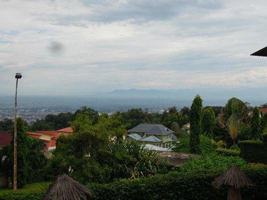 Hotel Restaurant VAYA Appartements : View of Bujumbura and DR Congo from hotel restaurant