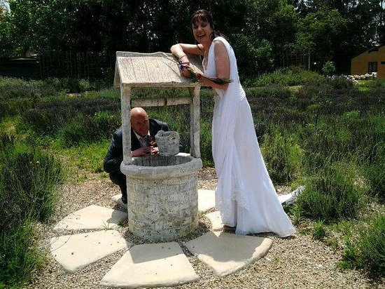 Valverde Country Hotel: Wishing well in the lavender fields