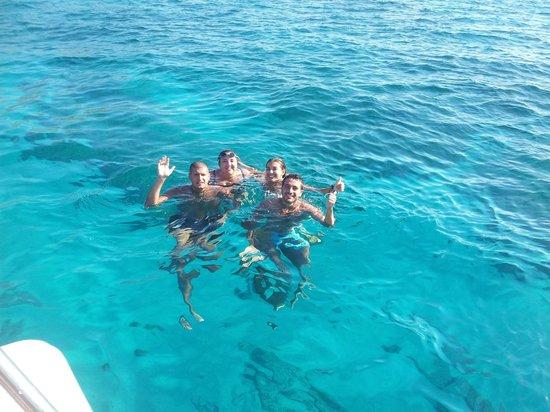 ...il mare di Favignana in barca con Salvo...ancora GRAZIE!!!