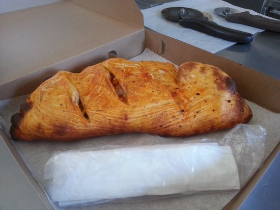 Jewell's Pizza Oven & Take Out: pa's blazing calzone its a hot one