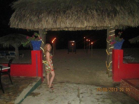 Bar-B-Barn: beach at night