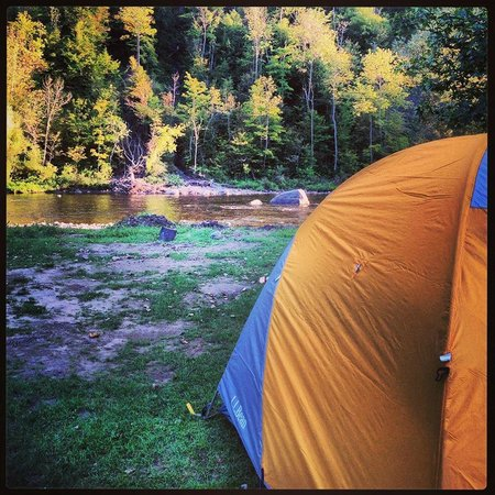 Herkimer KOA Campground: The view from our tent