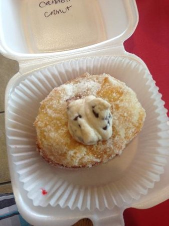 DOCO The Donut & Coffee Company: Stuffed Donut with Cannoli filling!!!