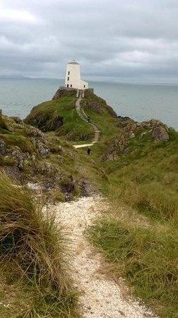 Newborough Warren & Ynys Llanddwyn: light house on llanddwyn island