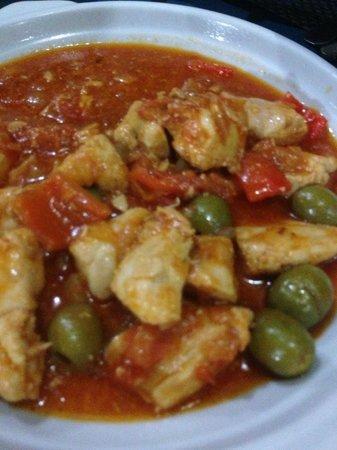 La Isla Bonita: Chicken in a tomato base