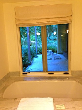 Farmhouse Inn: View from the bathroom