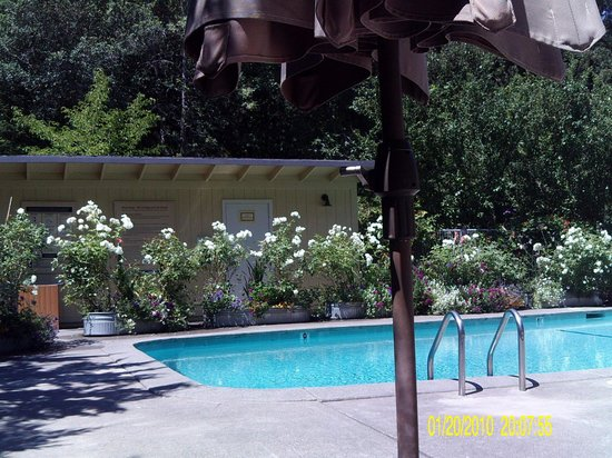 Farmhouse Inn & Restaurant: Unpleasant pool as the concrete takes the beauty away