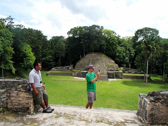 Belize Magnificent Mayan Tours: Ramos hiked up the Caana with us at Caracol!