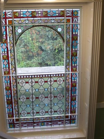 YHA Stratford upon Avon: An original stained glass window in Stratford YHA