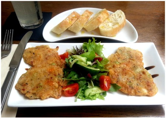 Westcoast Bar & Grill: Saltfish fritters perfect any time of the day