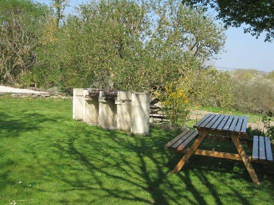 Crezieres, فرنسا: Bbq area at Les Hiboux farmhouse & cottages, France