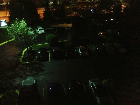 SpringHill Suites Chicago Schaumburg: Darkest parking lot ever!  Photo is accurate.