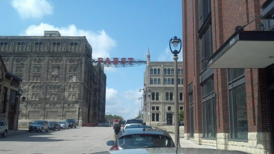 Best Place at the Historic Pabst Brewery : The sign that greets you upon turning on to Juneau Ave.