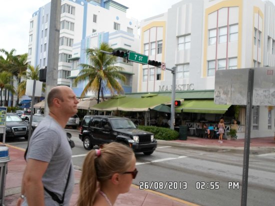 Majestic Hotel South Beach: vista desde Ocean Drive