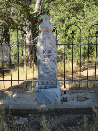 Doc Holliday's Grave: Doc Holliday - cemetery head stone (front)