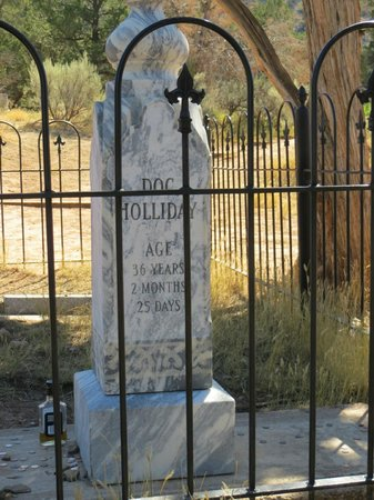 Doc Holliday's Grave: Doc Holliday - cemetery head stone (back)