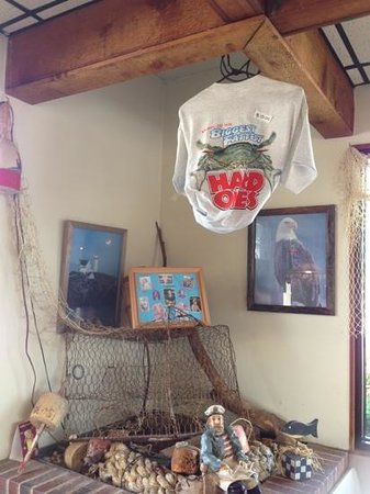 Captain Pat's Seafood Restaurant and Carry Out: gotta get the shirt!!