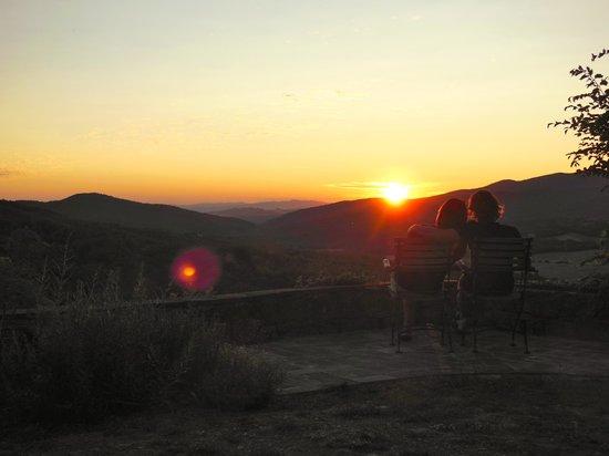 Podere Timignano : Sonnenuntergang