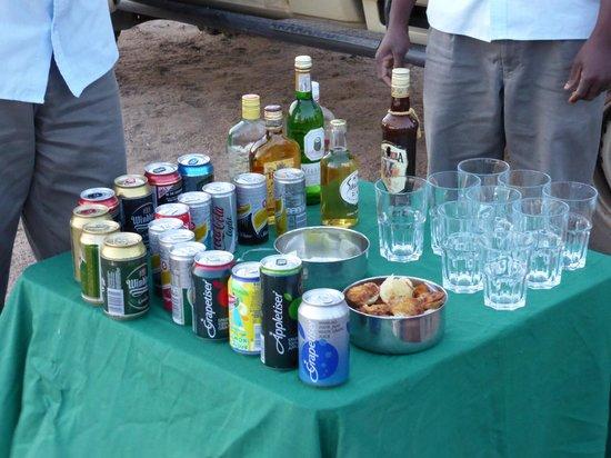 Honeyguide Khoka Moya & Mantobeni Camps: Evening safari drinks