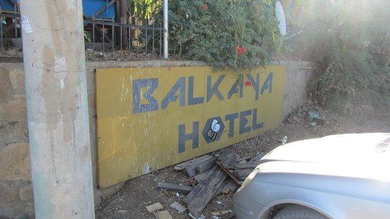 Balkaya Hotel: Hotel sign