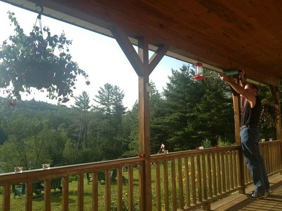 Inn by the River: my brother always filiming the humming birds with his go-pro