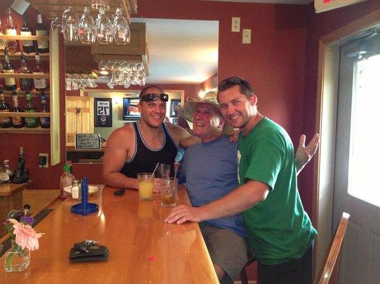 Inn by the River : men at the Inn bar