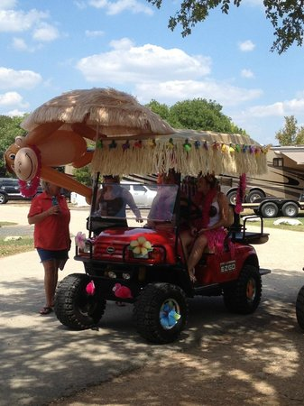 Yogi Bear's Jellystone Park Camp-Resort: Guadalupe River: 1st Place Winner of the Golf Cart Parade