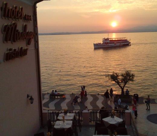 Hotel Miralago : Tramonto sul Lago
