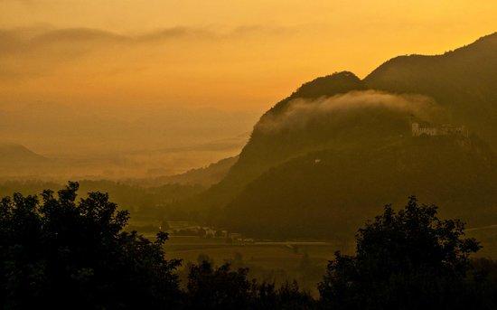 Morning mist from Villa Rosa