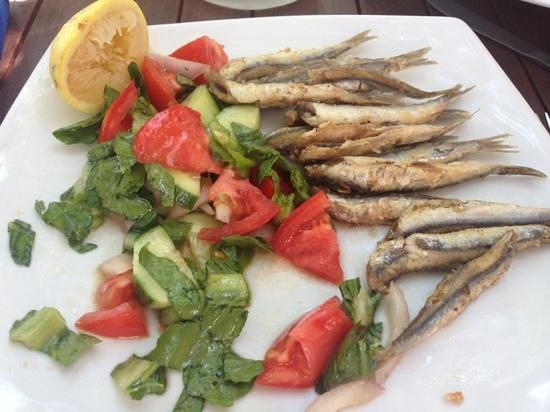 fresh fish from La Caldera. it's not a full portion, I couldn't resist eating some before I took