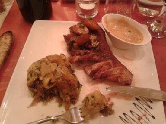 L'instant Délice : magret sauce Monbazillac patates sarladaise
