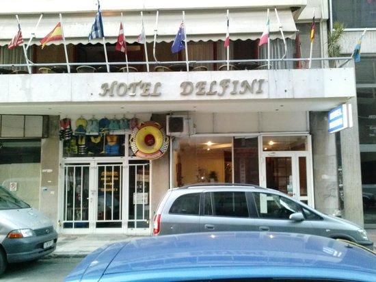 Delfini Hotel: Delfini's front door & Breakfast room balcony (above)