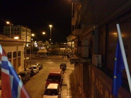 Delfini Hotel: Delfini Breakfast Balcony - looking towards port & my boat ~6am