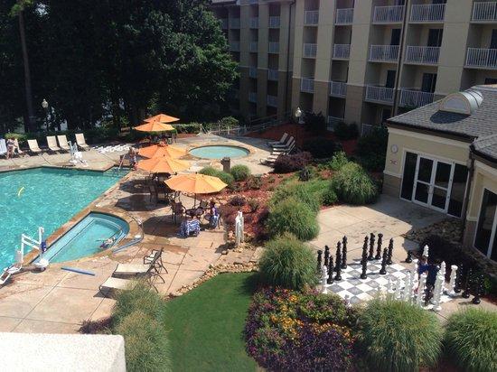 Atlanta Evergreen Marriott Conference Resort: Poolside view from the resort