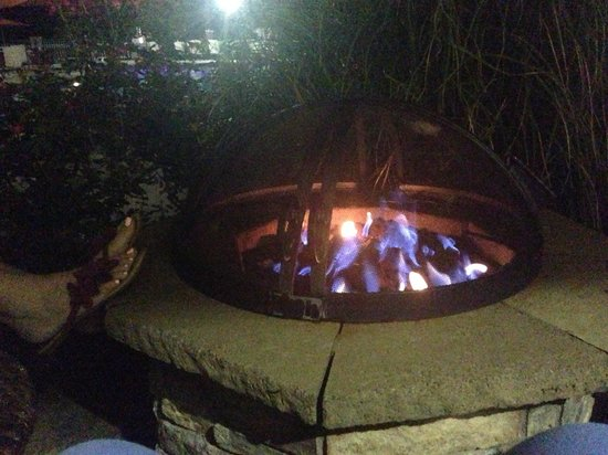 Atlanta Evergreen Marriott Conference Resort: bonfire by the swimming pool