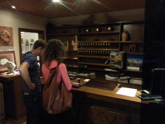 Hotel Col di Lana: La reception