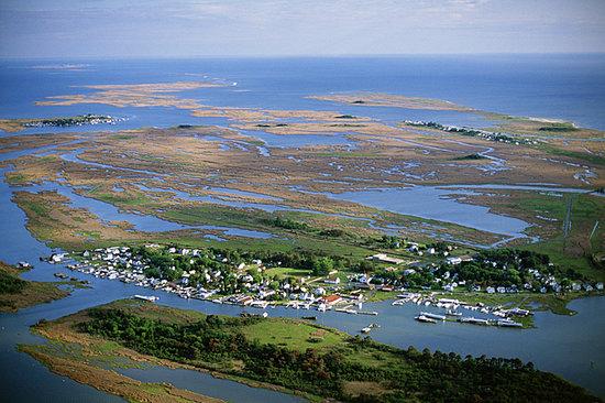 Smith Island Inn: Aerial view of Smith Island
